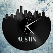 Austin Texas Skyline Wall Clock - VinylShop.US
