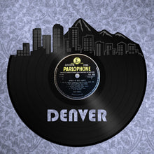 Denver Art - Denver Skyline Wall Decor, Denver Cityscape, Personalized Vinyl Record Skyline Art, Perfect Birthday, Anniversary, Wedding Gift - VinylShop.US