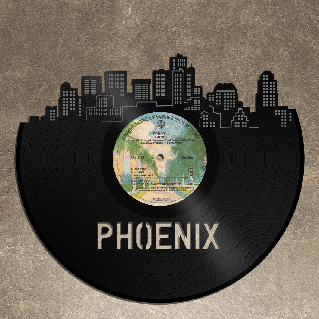 ... Skyline Wall Decor- Phoenix Skyline, Cityscape, Vinyl Record Art, Home Decor, ...