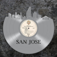 San Jose Skyline Art, San Jose Cityscape, San Jose Ca Wall Art, Gift Ideas For Men - VinylShop.US