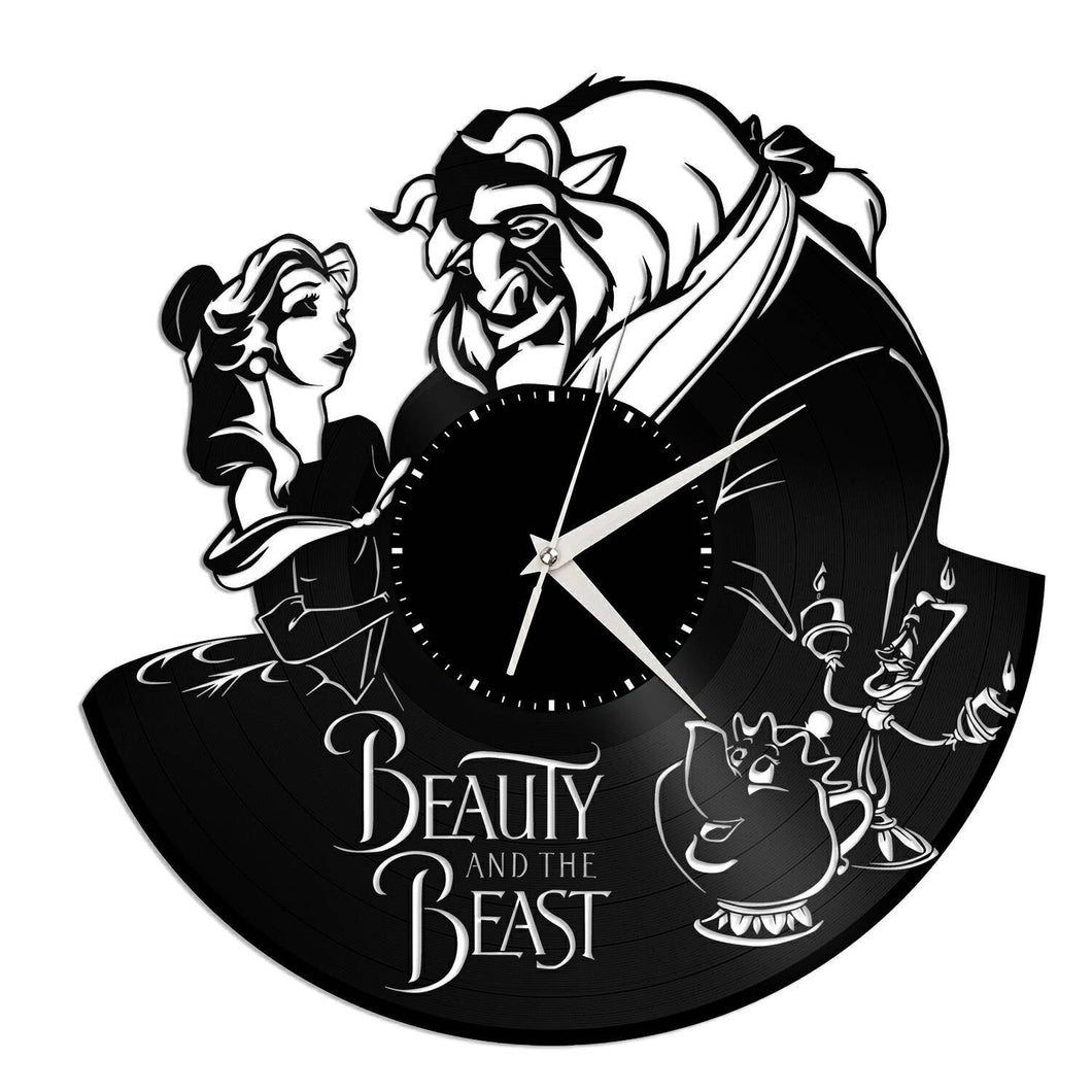 Beauty and the Beast Vinyl Wall Clock - VinylShop.US
