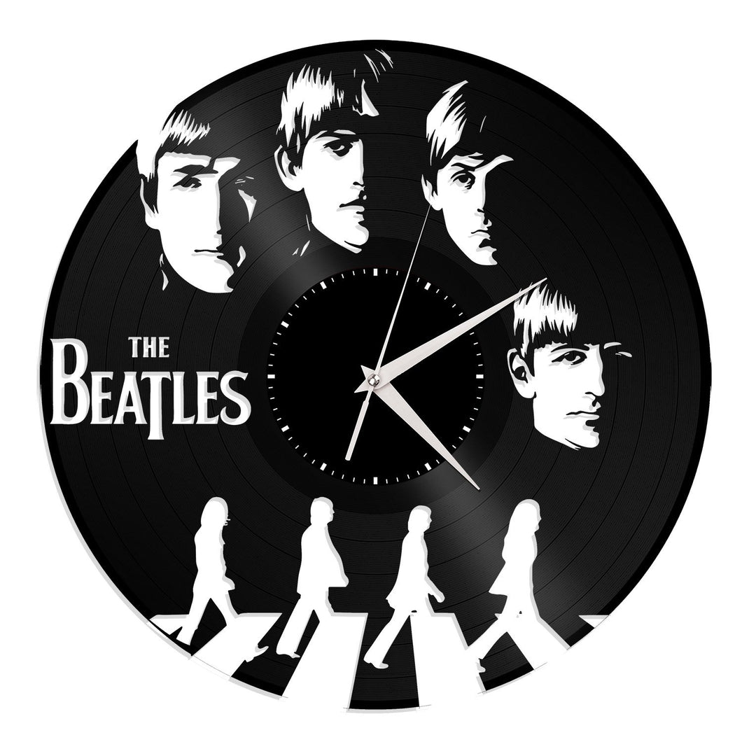 The Beatles Vinyl Wall Clock Vinylshop Us