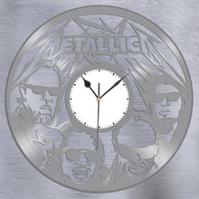 Music Lover Gift - Metallica Clock, Wall Clock, Vinyl Record Clock, Heavy Metal Gift, Vinyl Wall Clock, Vinyl Wall Decor, Gift for Him - VinylShop.US