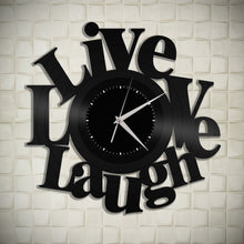 Live Love Laugh Vinyl Wall Clock - VinylShop.US