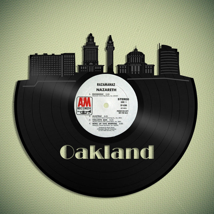Oakland Skyline Vinyl Wall Art - VinylShop.US
