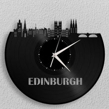 Scottish Gift, Edinburgh Skyline Clock, Scotland Wall Decor, Outlander Clock, Edinburgh Art, Castle, Architecture, Cityscape Wall Art - VinylShop.US