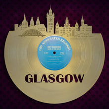 Deco Art, Glasgow Skyline Wall Decor, Scottish Gifts, Retro Clock, Glasgow Scotland, Personalized Gift, Vinyl Record Wall Art, Traveler Gift - VinylShop.US