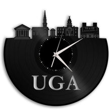 University of Georgia Vinyl Clock - UGA Vinyl Record Wall Clock Athens Georgia Design - VinylShop.US