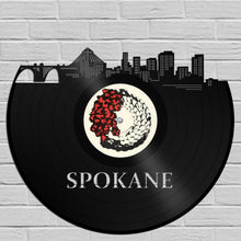 Spokane Skyline Art, Washington State Cityscape, Unique Modern Art, Cool Wall Decor, Personalized Gift, Vinyl Decor, Record Vinyl Decoration - VinylShop.US