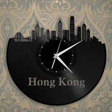 Hong Kong Skyline Vinyl Wall Clock - VinylShop.US