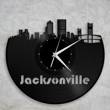Record Clock - Jacksonville Wall Clock, Coastal Clock, Jacksonville Florida, Unique Coastal Wall Decor, Modern Clock, Vinyl Record Clock - VinylShop.US