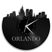 Vinyl Wall Clock - Orlando Wall Clock, Cityscape Clock, Wall  Art Clock,  Unique Wall Clock,  Large Wall Clock, Vinyl Clock, Record Clock - VinylShop.US