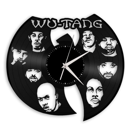 Wu Tang Clan Clock, Rappers Gift, DJ Gift, Rap Hip Hop Music Decor, Personalized Gift, Unique Gift, Bedroom Clock, Silent Quartz Clock - VinylShop.US