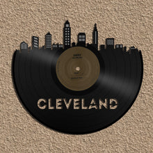 Unique Skyline of Cleveland, Music Art for Him, Hanging Art Skyline, Art New Boyfriend, Hip Art Gift, Custom Dorm Art, Music Lover Husband - VinylShop.US