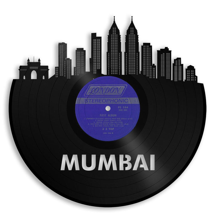 Mumbai Skyline Wall Art, India Wall Decor, Indian Home Decoration, Personalized Gift for Wedding, Anniversary, Best Friend, Travel Souvenir - VinylShop.US