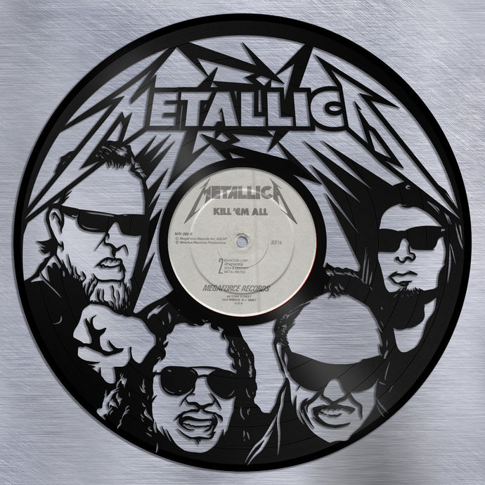 Metallica Wall Art Heavy Metal Wall Art Music Wall Art Record Old Record Wall Art Vinyl Sign Reused Record Decor Personalized Gift For Him - VinylShop.US