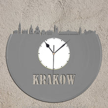 Polish Gift, Historic Krakow Skyline Clock - Poland Cityscape, Wawel, Castle, Cracow Clock, Unique Wall Clock, Broad City Travel - VinylShop.US