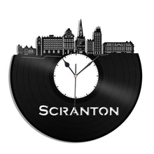 Minimalist Art, Scranton PA Skyline Clock, Pennsylvania Cityscape Clock, Wall Art Gift Idea For Mom, Dad, Brother, Sister, Friend, Boyfriend - VinylShop.US