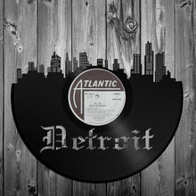 Detroit Skyline, MI Art, Vinyl Record Wall, Retro Album Art, Eco Wall Art, Detroit Art Skyline, Custom Detroit Art, Best Motown Art - VinylShop.US