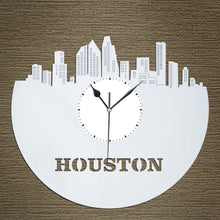 Houston Skyline Vinyl Wall Clock - VinylShop.US