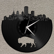 NY Buffalo Bison Vinyl Wall Clock - VinylShop.US