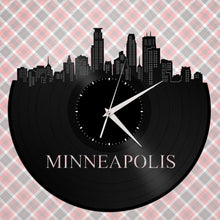 Minneapolis St Paul Skyline Clock - Minneapolis Wall Art, Minnesota Cityscape Skyline, Large Wall Decor, Large Clock, Large Wall Clock, Gift - VinylShop.US