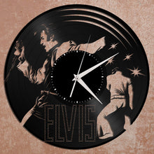 Elvis Clock - Elvis Presley Art Record Clock, Vinyl Record Clock, Unique Wall Clock, Large Wall Clock, Vinyl Clock, Elvis Gifts, - VinylShop.US
