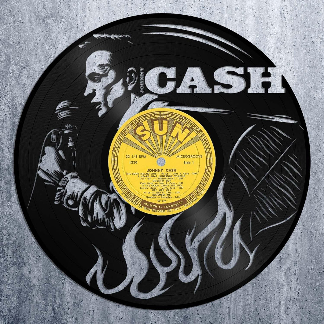 Johnny Cash Vinyl Wall Art – VinylShop.US