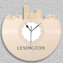 Meeting Gifts, Personalized Teacher Gifts For Men, Lexington Kentucky Skyline Clock, Kentucky Gift, Repurposed Personalized Vinyl Record Art - VinylShop.US