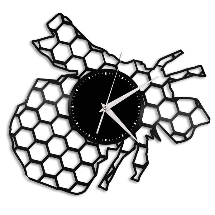 Honey Bee Vinyl Wall Clock - VinylShop.US