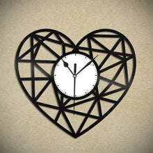 Geometric Heart Vinyl Wall Clock - VinylShop.US