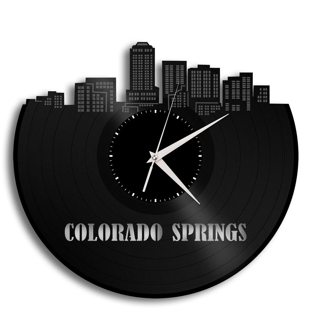 Colorado Springs Skyline Wall Clock - VinylShop.US
