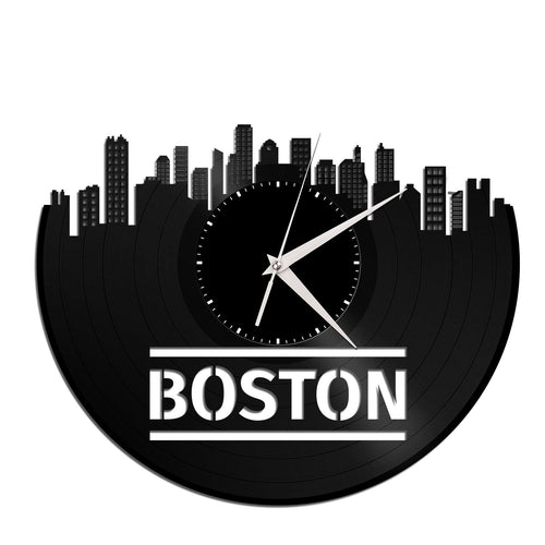 Boston Skyline Wall Clock - VinylShop.US