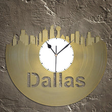 Vinyl Wall Clock - Dallas Wall Clock, Cityscape Clock, Wall  Art Clock,  Unique Wall Clock,  Large Wall Clock, Vinyl Clock, Record Clock, - VinylShop.US