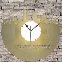 Michigan State Grand Rapids Wall Clock, Michigan Art, Wall Art Clock, Unique Wall Clock, Large Wall Clock, Vinyl Record Clock, Gift for him - VinylShop.US