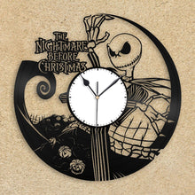 Wall Clock, Nightmare Before Christmas Clock, Jack Skellington Halloween Disney Inspired Wall Decor, Tim Burton, Jack and Sally Vinyl Record - VinylShop.US