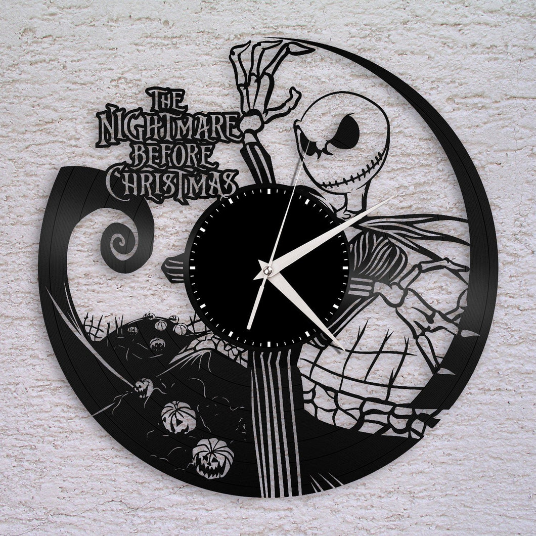 Nightmare Before Christmas Vinyl Wall Clock – VinylShop.US
