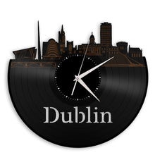 Wall Clock Decorative Clock, Dublin Clock, Irish Gift, Ireland Art, Home Decor, Vinyl Record Silent Clock, Gift For Grandma, For Grandpa - VinylShop.US