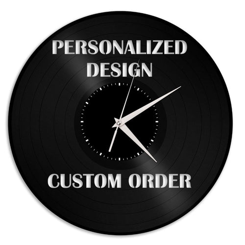 Personalized Family Reunion Gift, Custom Family Wall Art, Family Clock, Genuine Record Art, Bulk Gifts, Wall Decor, Home Memory Gift - VinylShop.US