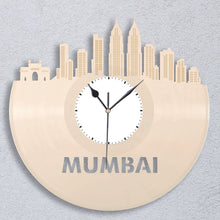 Mumbai Clock, Indian Gift, Personalized Clock, Mumbai, India, Home Decor, Wall Art, Repurposed Vinyl Record Clock, Gift for Best Friend - VinylShop.US