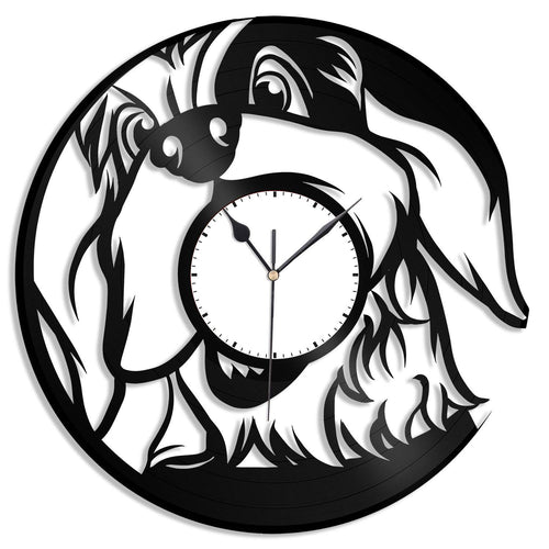 Dog Lover Gift, Dog Clock, Gift Idea for Dog Lovers, Dog Wall Art Decor, Animal Nursery Decor, Record Vinyl Art, Unique Wall Decoration - VinylShop.US
