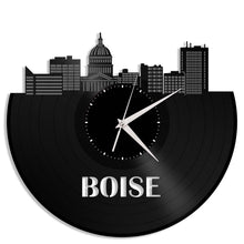 Boise Skyline Wall Clock - VinylShop.US