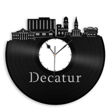 Decatur Skyline Vinyl Wall Clock - VinylShop.US