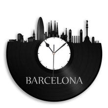 Barcelona Skyline Vinyl Wall Clock - VinylShop.US