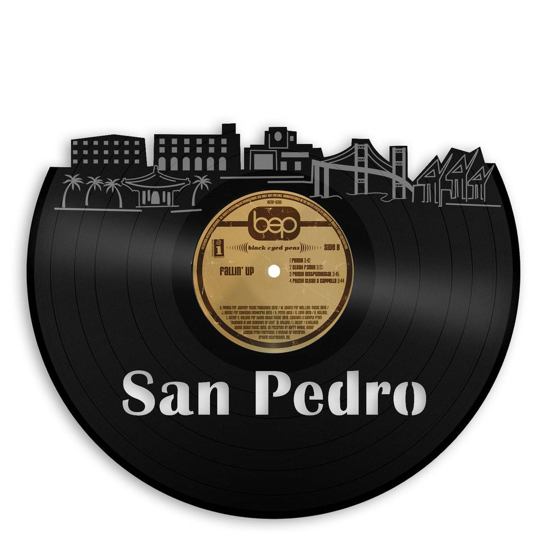 San Pedro Skyline Wall Art - VinylShop.US
