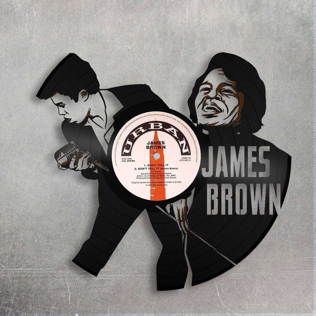 James Brown Vinyl Wall Art - VinylShop.US