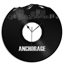 Anchorage Alaska Skyline Vinyl Wall Clock - VinylShop.US