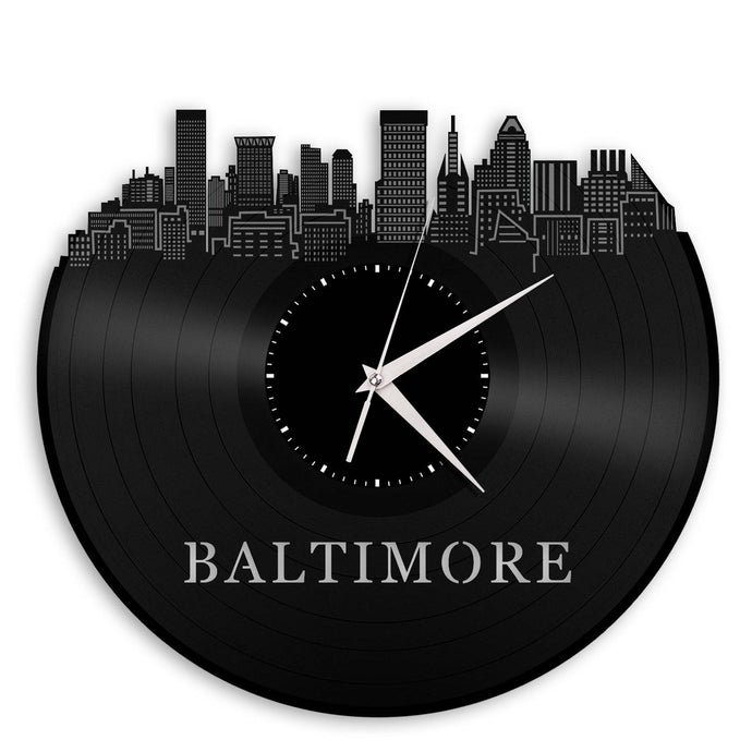 Baltimore Skyline Vinyl Wall Clock - VinylShop.US