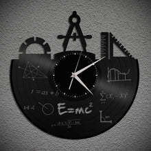 Science Gifts For Her, Gift For Engineer, Science Gift For Him, Repurposed Wall Clock, Cool Gifts For Student, Cool Gift For Men, Unique Art - VinylShop.US