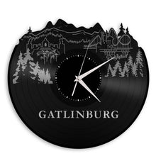 Gatlinburg Skyline Vinyl Wall Clock - VinylShop.US